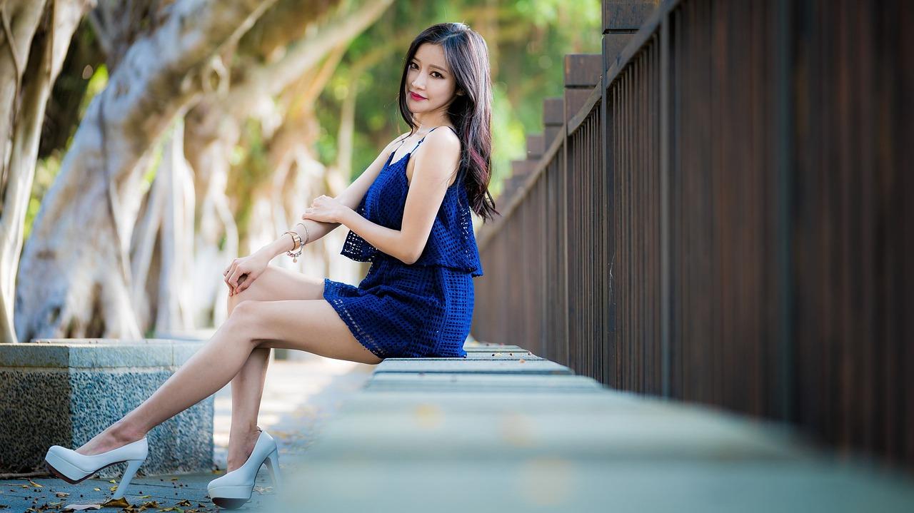 Thai woman in short dress