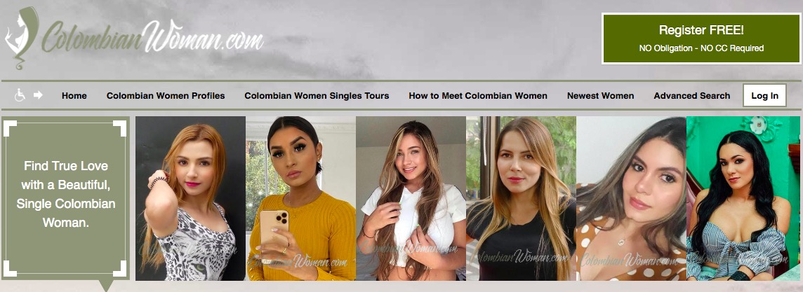 ColombianWoman main page